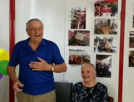 Djura celebrates his 90th birthday at the respite centre