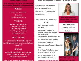 Wellness in the Golden Years Expo - Hear Nicky on Radio Logan 101FM - 15 August