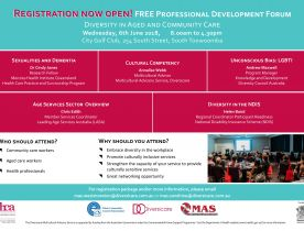 Diversity in Aged and Community Care Professional Development Forum
